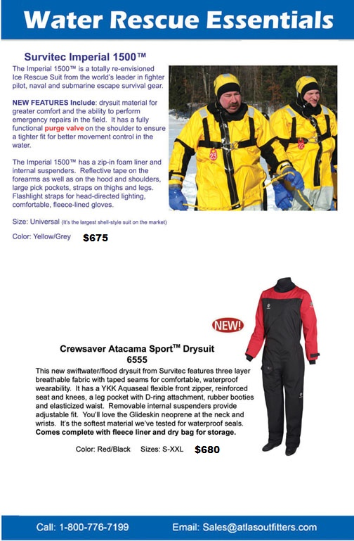 Survitec ice rescue suit and drysuit